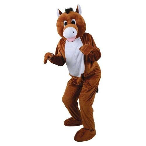 Adult Deluxe Mini Mascot Costume for Animals Creatures Fancy Dress Mens Ladies Derby Horse